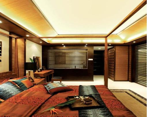 现代简约风格卧室吊顶 装修效果图欣赏 图片 h