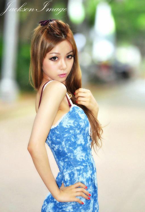 花丛中的美女 夏日清凉纯美写真 图片 hao123