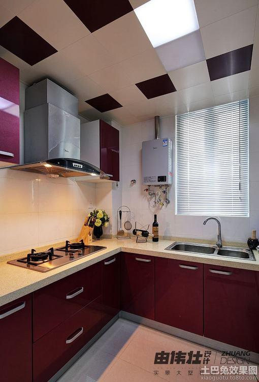 简约90平米二居厨房集成吊顶装修效果图