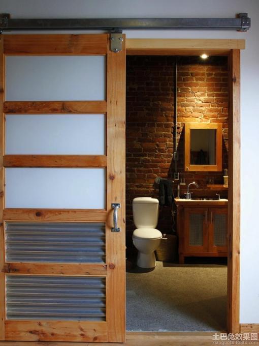 实木洗手间门装修效果图 hao123网址导 高清图片