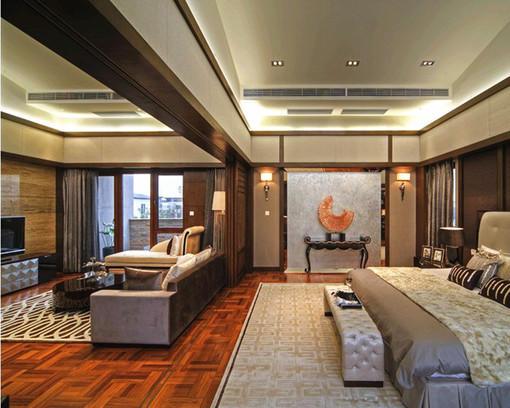 推拉门隔开,   中式古典风格卧室客厅推拉门隔断效果图 图片