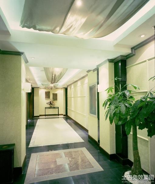过道地砖铺贴效果图,过道地砖拼花效果图,过道地砖,家装走廊过高清图片