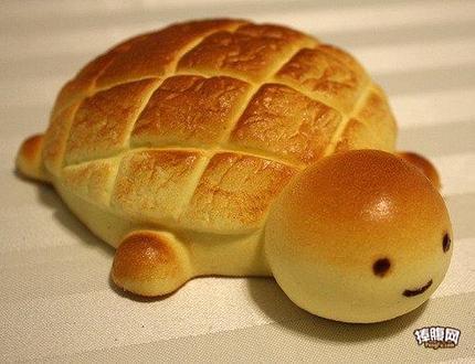 好好可爱的小乌龟面包