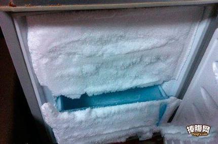 回老家的时候冰箱门没关好,结果。。