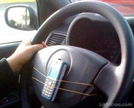 妈妈再也不担心开车不能接电话